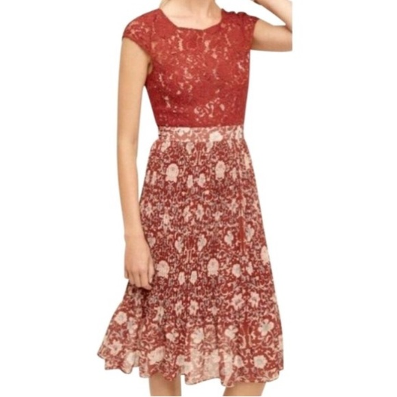 NWT Anthro Tracy Reese Luella Lace Floral Dress